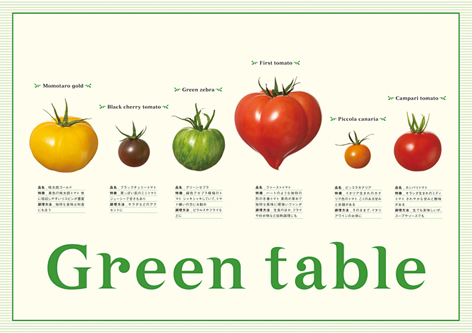 Green table_チラシ